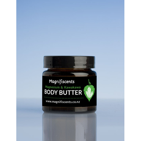 Magnificents Body Butter 65gm with Magnesium  Kawakawa