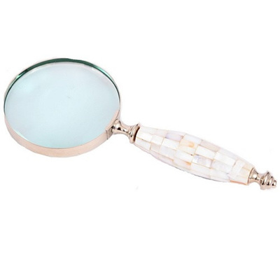 Magnifier Glass Brass/Nickel