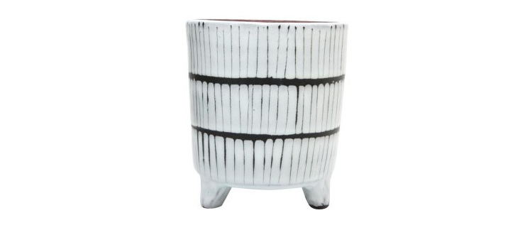 Maha Ceramic Planter - Black & White 14.5cm