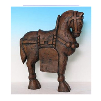 Majestic Horse Deco Ornament - Walnut
