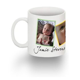Make a unique photo gift like a mug, greeting card or coaster right here.