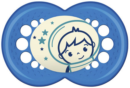 MAM Night Soothers 4-24mths - 2Pk