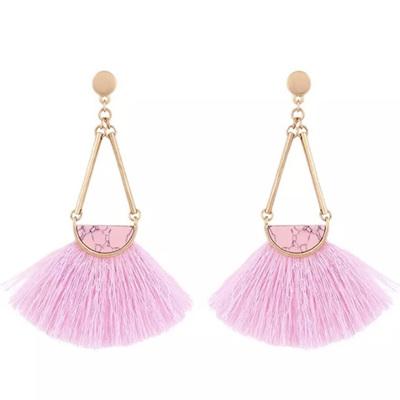 Mambo Marble Tassel Earrings - Candy Floss