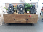 Mandala 3 Door Entertainment Unit - Carved Front A - 140x55cm