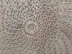 Mandala Single Door Bedside - Carved Front
