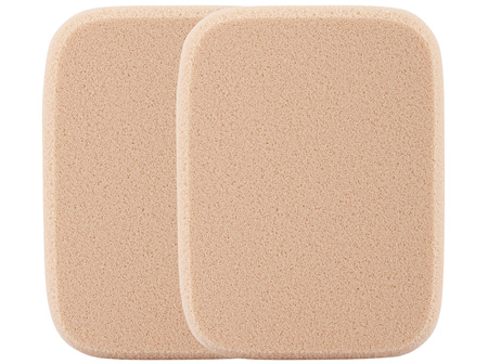 Manicare Foundation Sponge, Brown Rectangle Latex, 2 Pack