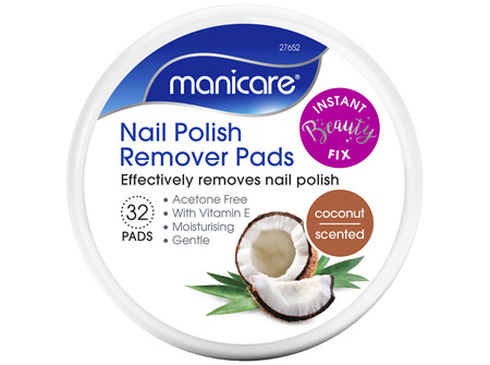 Manicare Nail Polish Remover Pads Coconut 32 pads