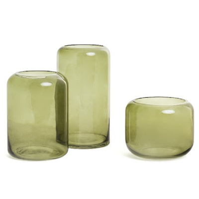 Mantua Khaki Glass Vase - Medium
