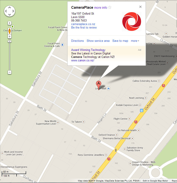 Map of our location in Levin CDB