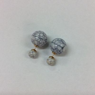 Marble 2 In 1 Earrings