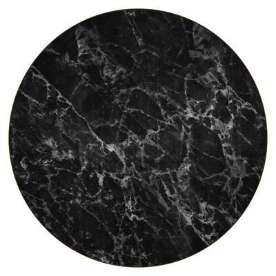Marble Placemat Round Black