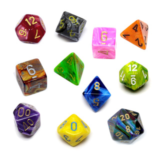 'Marbled' Polyhedral Dice