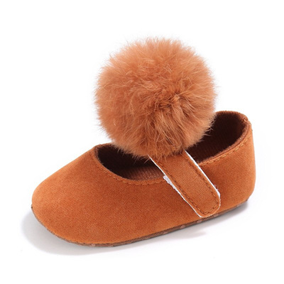 Mary Jane Pom Pom Shoe - Tan