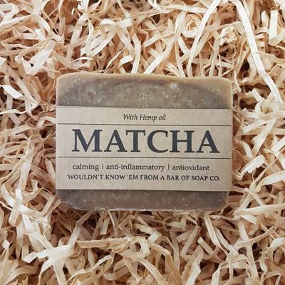 Matcha and  Hemp Oil Soap