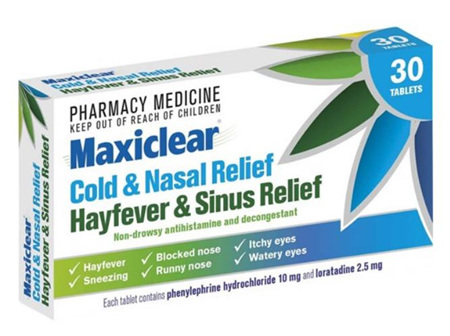 Maxiclear Cold & Nasal/Hayfever and Sinus Tablets 30s