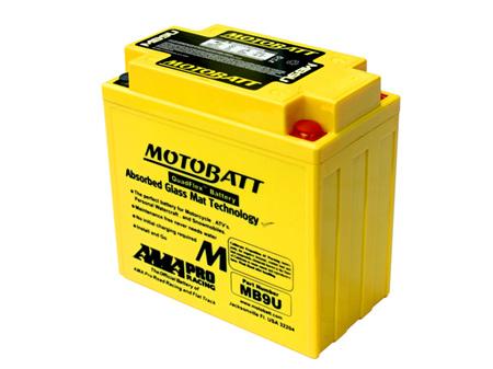 MB9U MotoBatt 4 Terminal 12v 140ccA 11Ahr