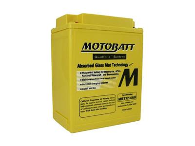 MBTX14AU MotoBatt 4 Terminal 12v 190ccA 16.5Ahr Battery