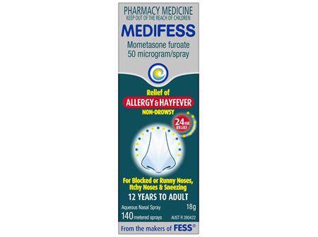 MEDIFESS Allergy & Hayfever Nasal Spray 140D 18g