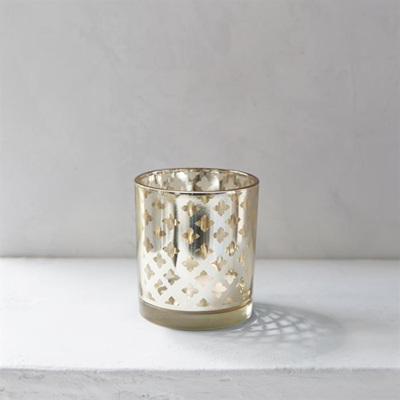 Medium Trellis Votive Gold