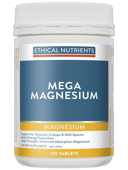 Mega Magnesium 120 Tablets