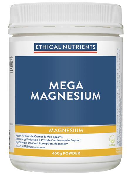 Mega Magnesium Citrus 450g Powder