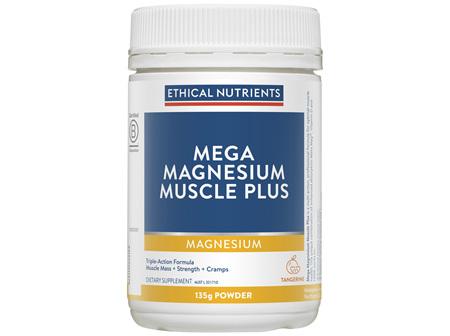 Mega Magnesium Muscle Plus Powder Tangerine 135g