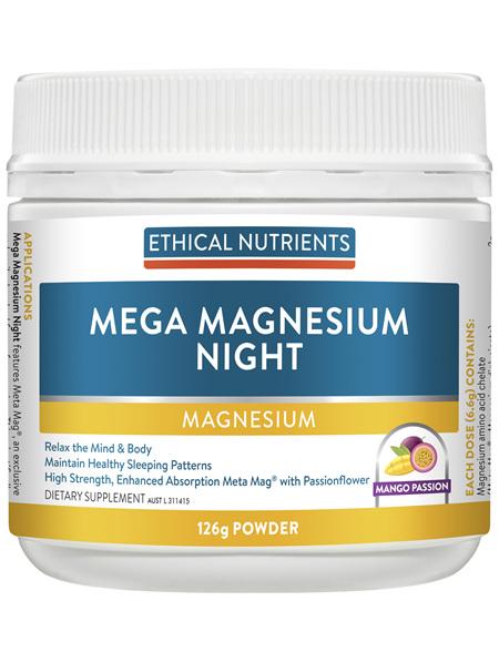 Mega Magnesium Night Mango Passion 126g