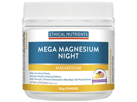 Mega Magnesium Night Mango Passion 126g