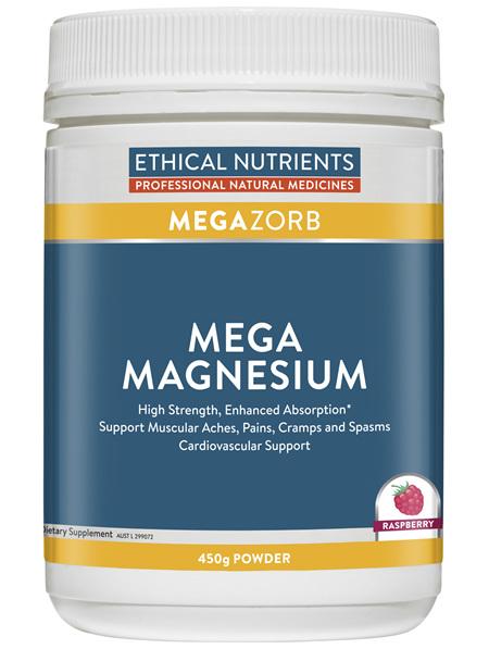 Mega Magnesium Raspberry 450g Powder
