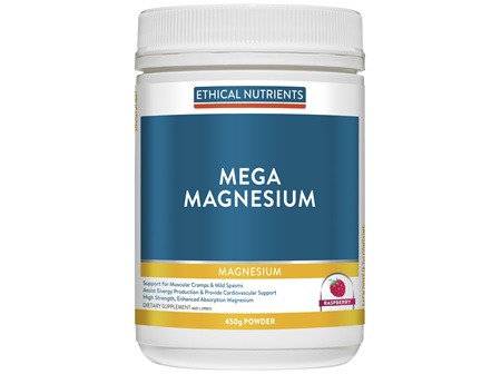 Mega Magnesium Raspberry 450g Powder