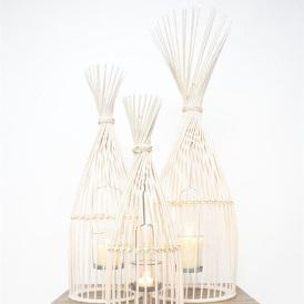 Meika Lantern - White Wash
