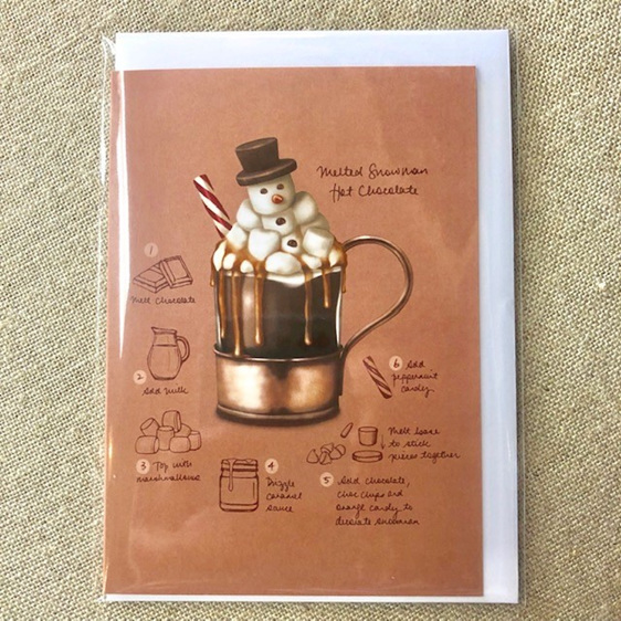 Melted Snowman Hot Choc Card
