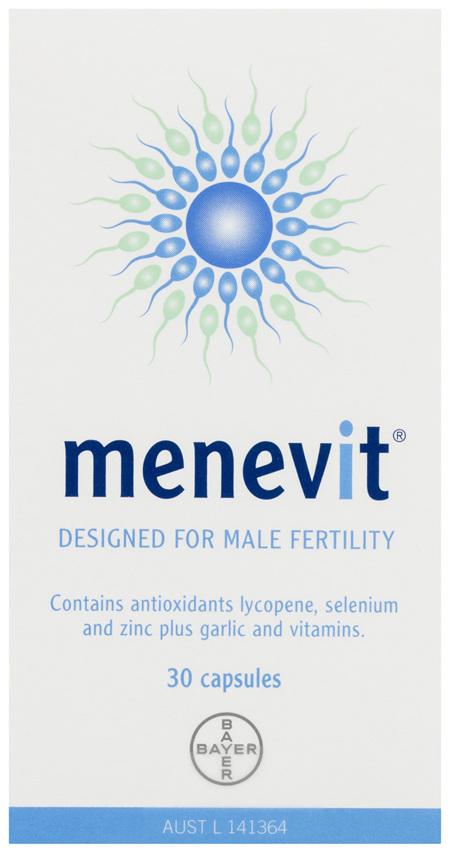 Menevit Male Fertility Supplement Capsules 30 pack (30 days)