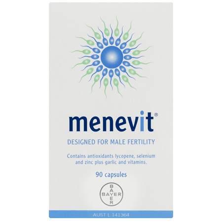 Menevit Male Fertility Supplement Capsules 90 pack (90 days)