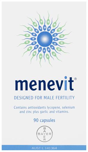 Menevit Male Fertility Supplement Capsules 90 pack (90 days)