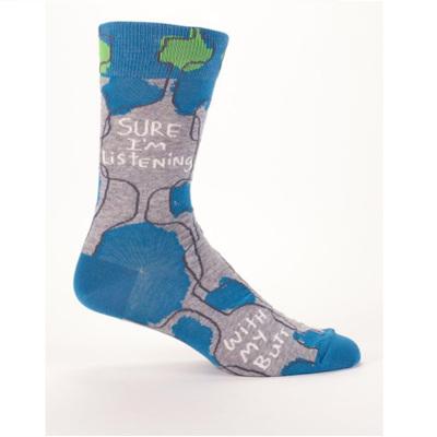 Men's Socks - Sure Im Listening
