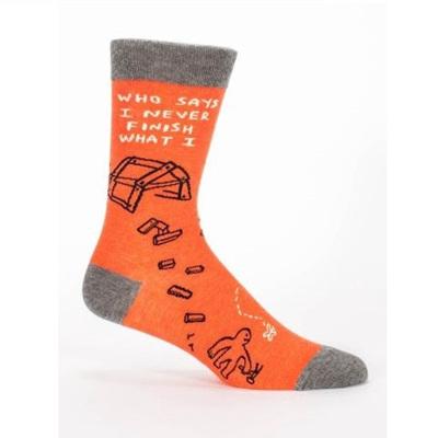 Men's Socks - Who Says I Never