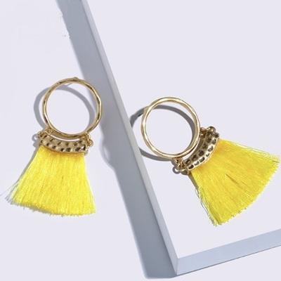 Merenge Mini Mowhawk Earrings - Lemon