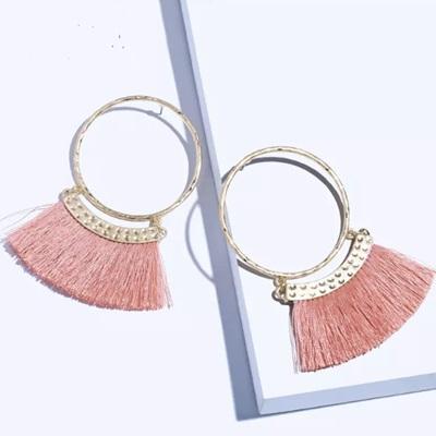 Merenge Mowhawk Hoop Earrings - Peach