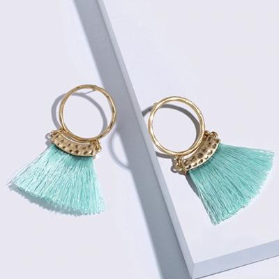 Merenge Mowhawk Hoop Earrings - Turquoise