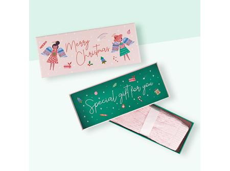 """Merry Christmas"" Gift box with 1 pair of lush socks"