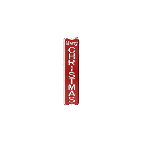 Merry Christmas Tin Sign 11.5x50cm