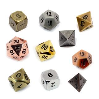 Metal Polyhedral Dice