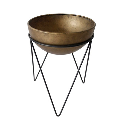Metal Scooped Planter - Small