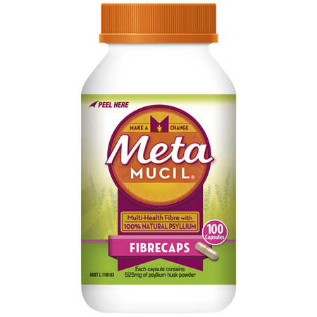 Metamucil Daily Fibre Supplement Fibre Caps 100 Capsules