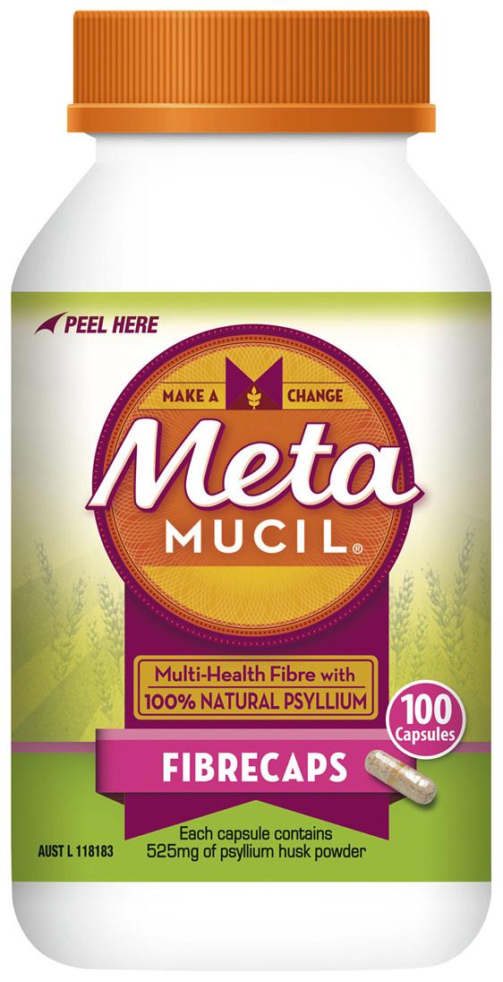 Metamucil Daily Fibre Supplement Fibre Caps 100 Capsules