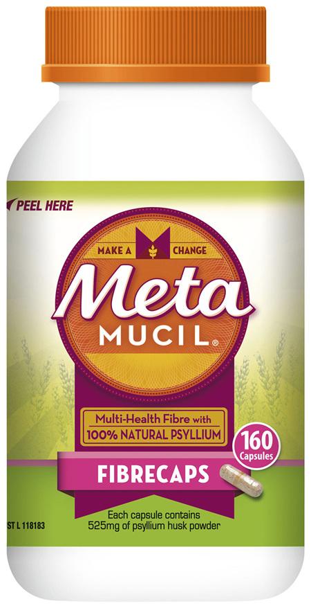 Metamucil Daily Fibre Supplement Fibre Caps 160 Capsules
