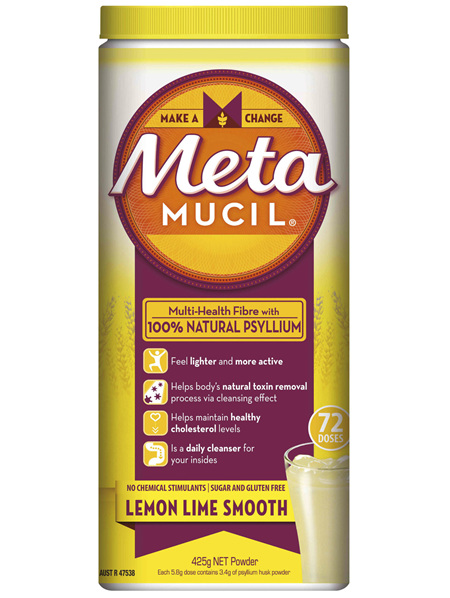 Metamucil Daily Fibre Supplement Lemon Lime Smooth 72 Doses