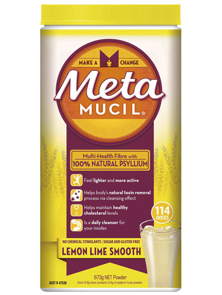 Metamucil Daily Fibre Supplement Lemon Lime Smooth 114 Doses