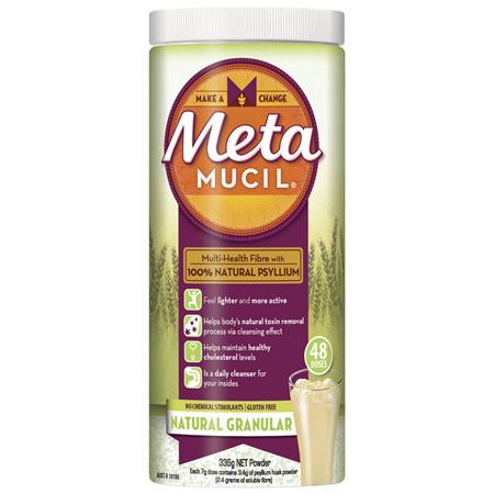 Metamucil Daily Fibre Supplement Natural Granular 48 Doses